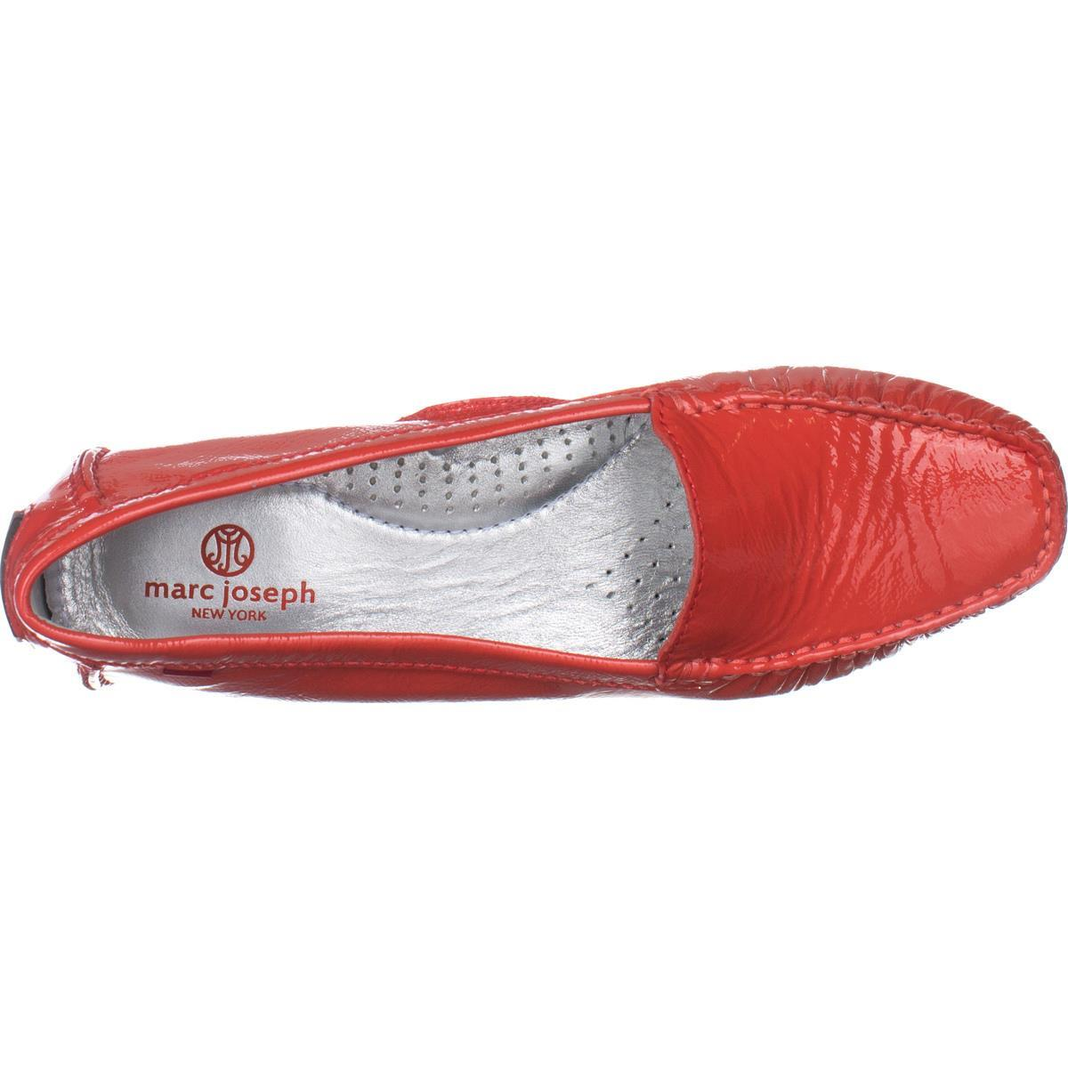 Womens Marc Joseph Manhasset Slip-On Loafers, Coral Patent