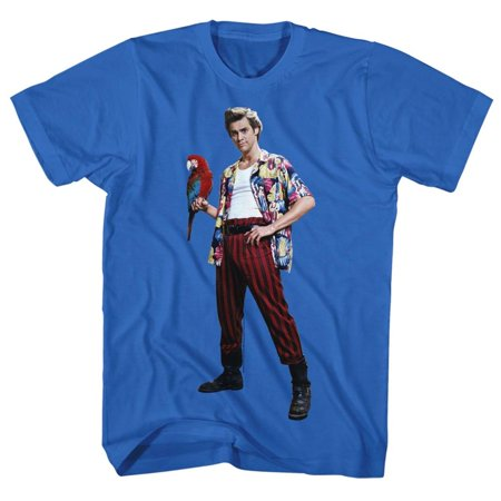 Ace Short Sleeve T-shirt - Ace Ventura Movies Parrot Adult Short Sleeve T Shirt