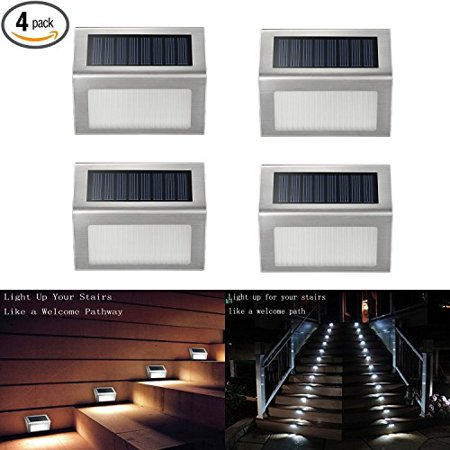 Solar Deck Lights Ithird 3 Led Ed Step Stainless Steel Outdoor Lighting For Steps Paths Patio Stair Auto On Off Waterproof 4 Pack