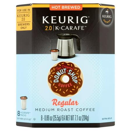 Keurig K Carafe Packs  The Original Donut Shop Regular  8 Count