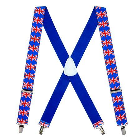 9d972c27d80 SuspenderStore - Suspender Store United Kingdom Flag Suspenders Multi 0-42- UK-15-N - Walmart.com