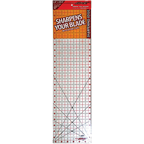 "Sullivans The Cutting EDGE Clear Ruler, 6-1/2"" x 24-1/2"""
