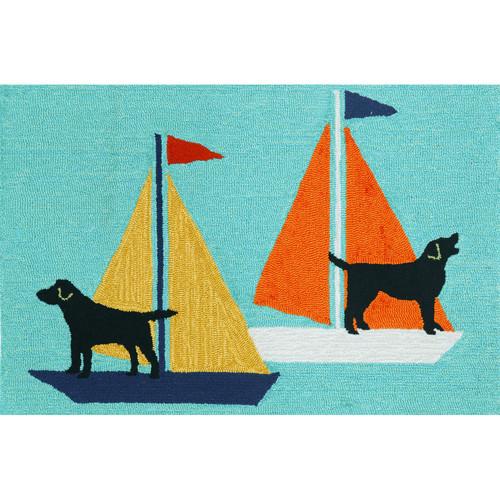 Liora Manne Frontporch Sailing Dog Area Rug