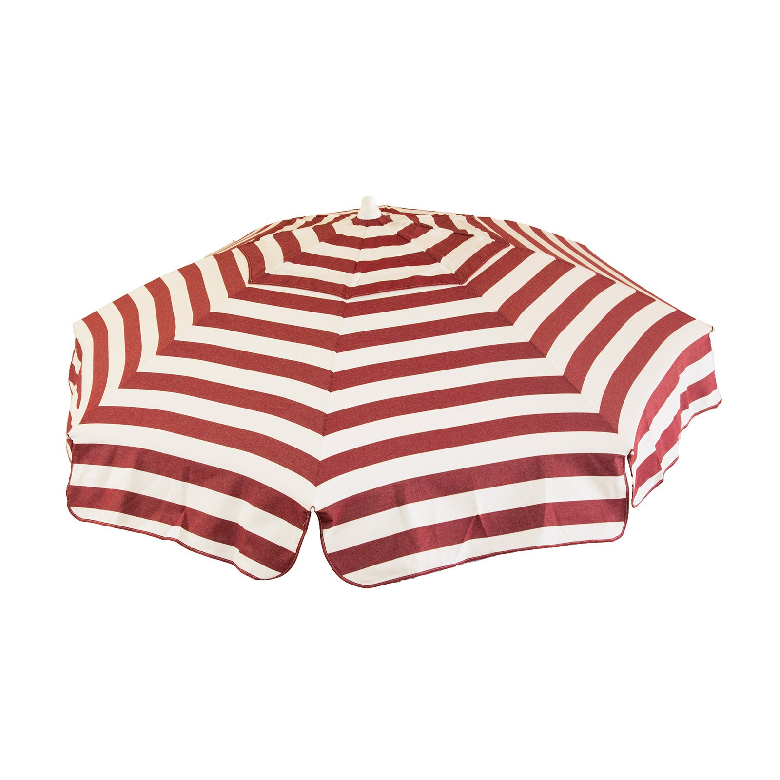DestinationGear Italian 6' Umbrella Acrylic Stripes Cabernet and White Beach Pole