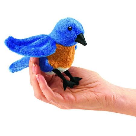 Finger Puppet - Folkmanis - Mini Bluebird New Animals Soft Doll Plush Toys 2755