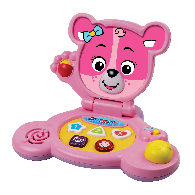 Vtech Bear S Baby Laptop Trade Pink Walmart Com