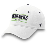 Seattle Seahawks NFL Pro Line by Fanatics Branded Classic Bar Adjustable Hat - White - OSFA