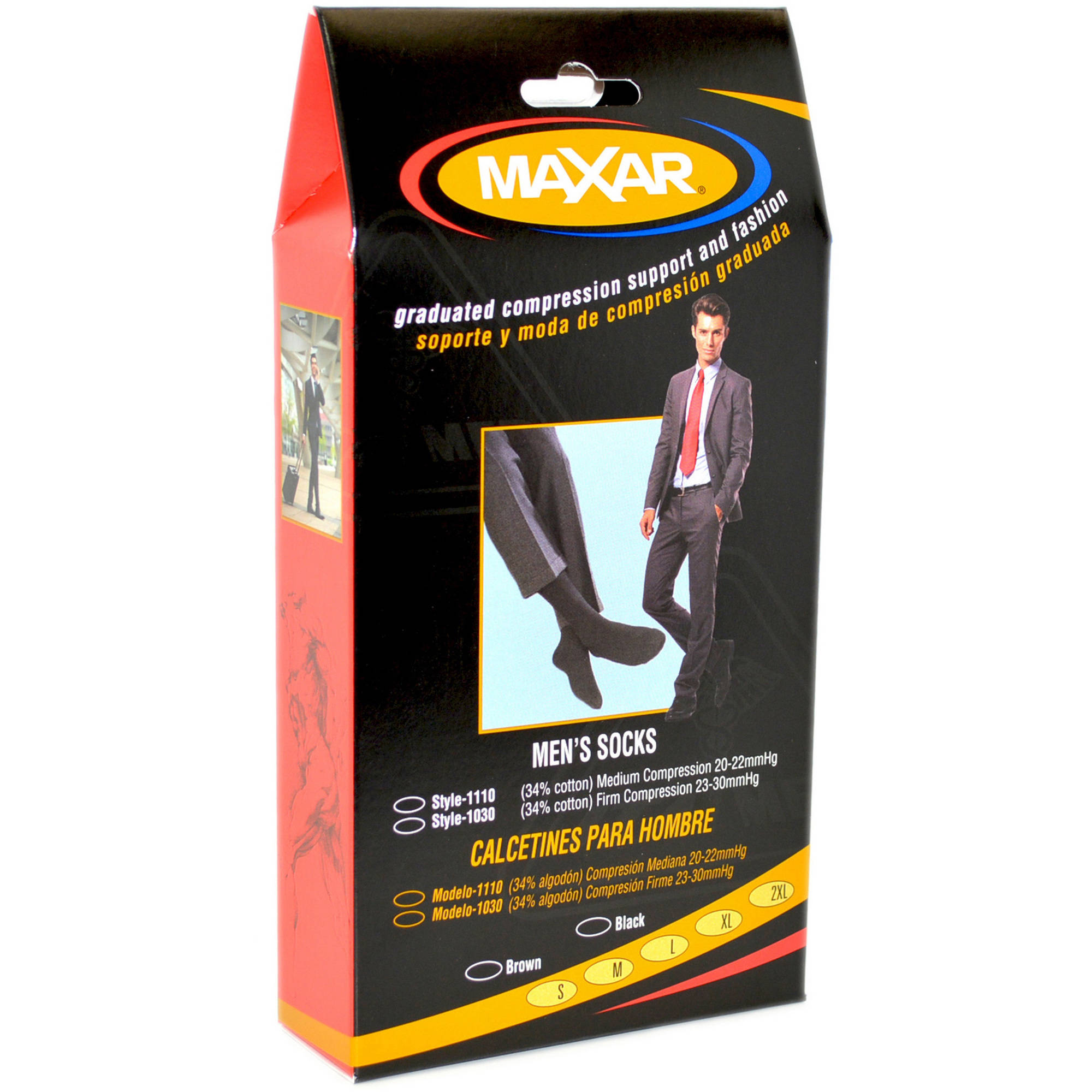MAXAR Mens Trouser Support Socks (20-22 mmHg): H-1110