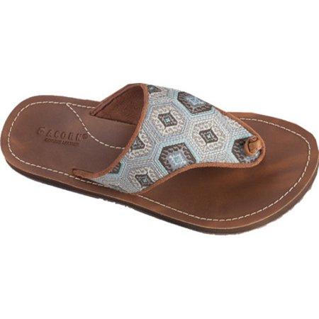 0abe68843 Acorn - women's acorn artwalk leather flip sandal - Walmart.com