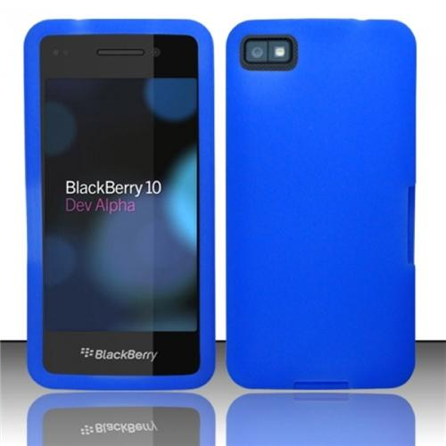 Insten Blue Silicone Soft Skin Case Cover For Blackberry 10