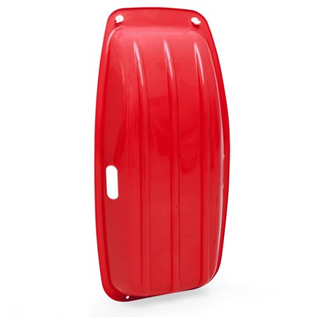 Best Choice Products 35'' Kids Snow Sled Toboggan w/ Rope (Red) - image 2 of 5