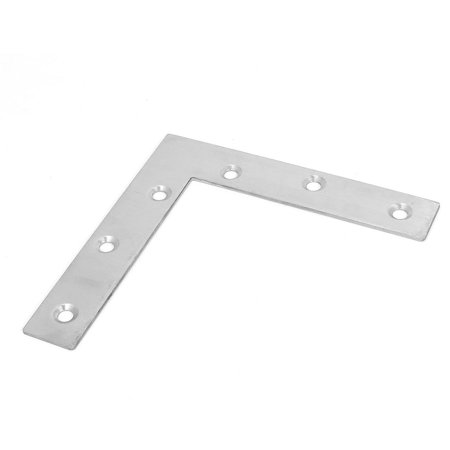 Unique Bargains 120mmx120mm Flat L Shape Corner Brace Mending Plate Right Angle -