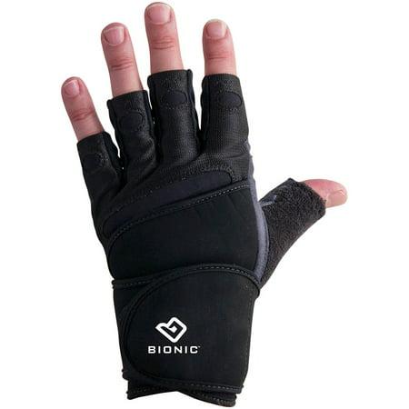 BIONIC GLOVES Men's Wrist Wrap Fitness Gloves Size: Large