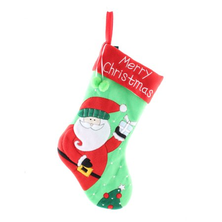 18   Felt Merry Christmas Holiday Santa Claus Personalized Stocking Hanging Socks Ornaments Home Decorations Gifts