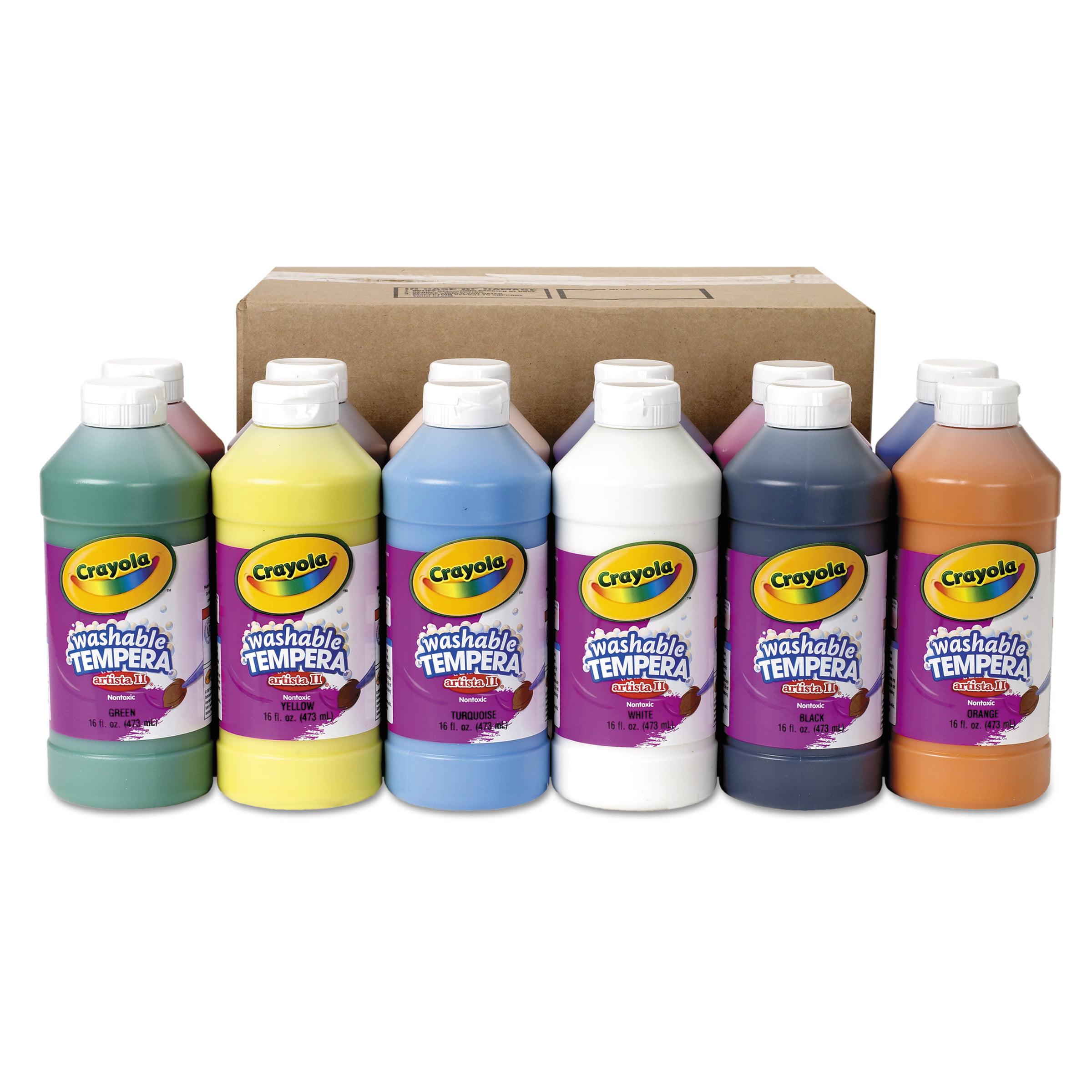 Crayola Washable Paint, Assorted, 16 Oz Bottle, 12 Per Set by BINNEY & SMITH / CRAYOLA