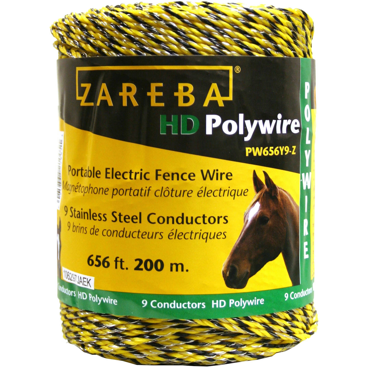 Zareba 200-Meter 9-Conductor Portable Electric-Fence Polywire