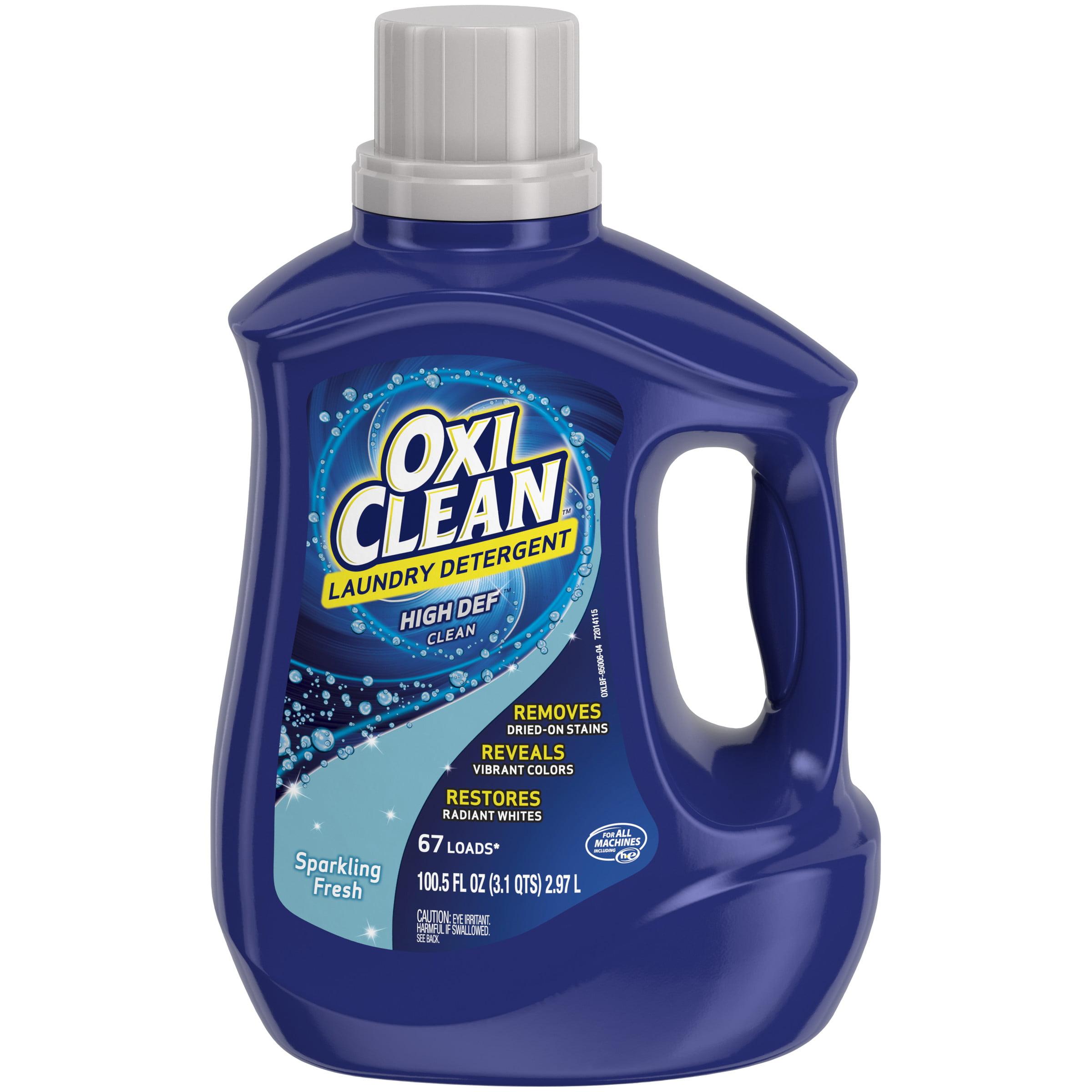 OxiClean Liquid Laundry Detergent, Sparkling Fresh Scent, 100.5 oz.