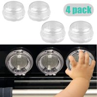 EEEKit Universal Kitchen Stove Knob Covers Baby Safety Oven Gas Stove Knob Protection Locks for Child Proofing-4Pack