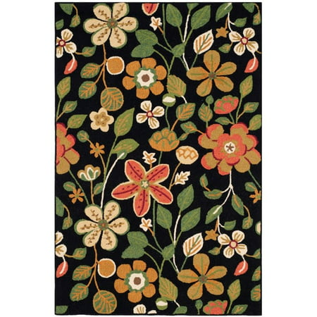 Safavieh Four Seasons 5' X 7' Hand Hooked Polyester Pile Rug in Black - image 2 de 2