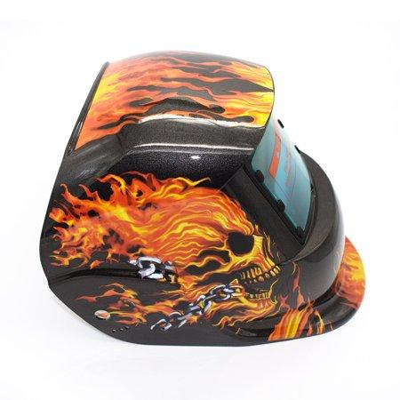 Solar Powered Auto Darkening TIG MIG MMA Electric Welding Mask Welder Cap - image 2 of 9