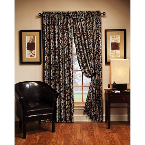 "Zebra Print Curtain Panel, 54""x84"""