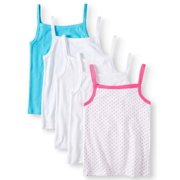 Wonder Nation Toddler Girls Cami Layering Tank Tops, 5-Pack