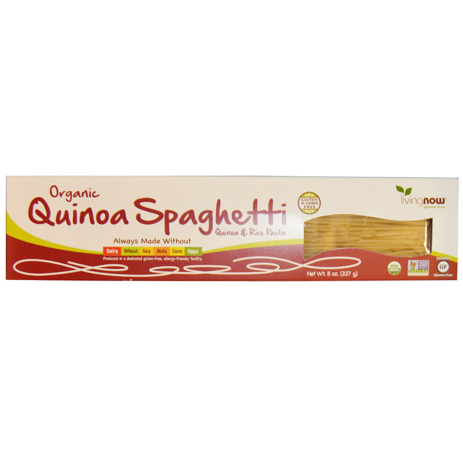 Now Foods, Real Food, Organic Quinoa Spaghetti, 8 oz (pac...