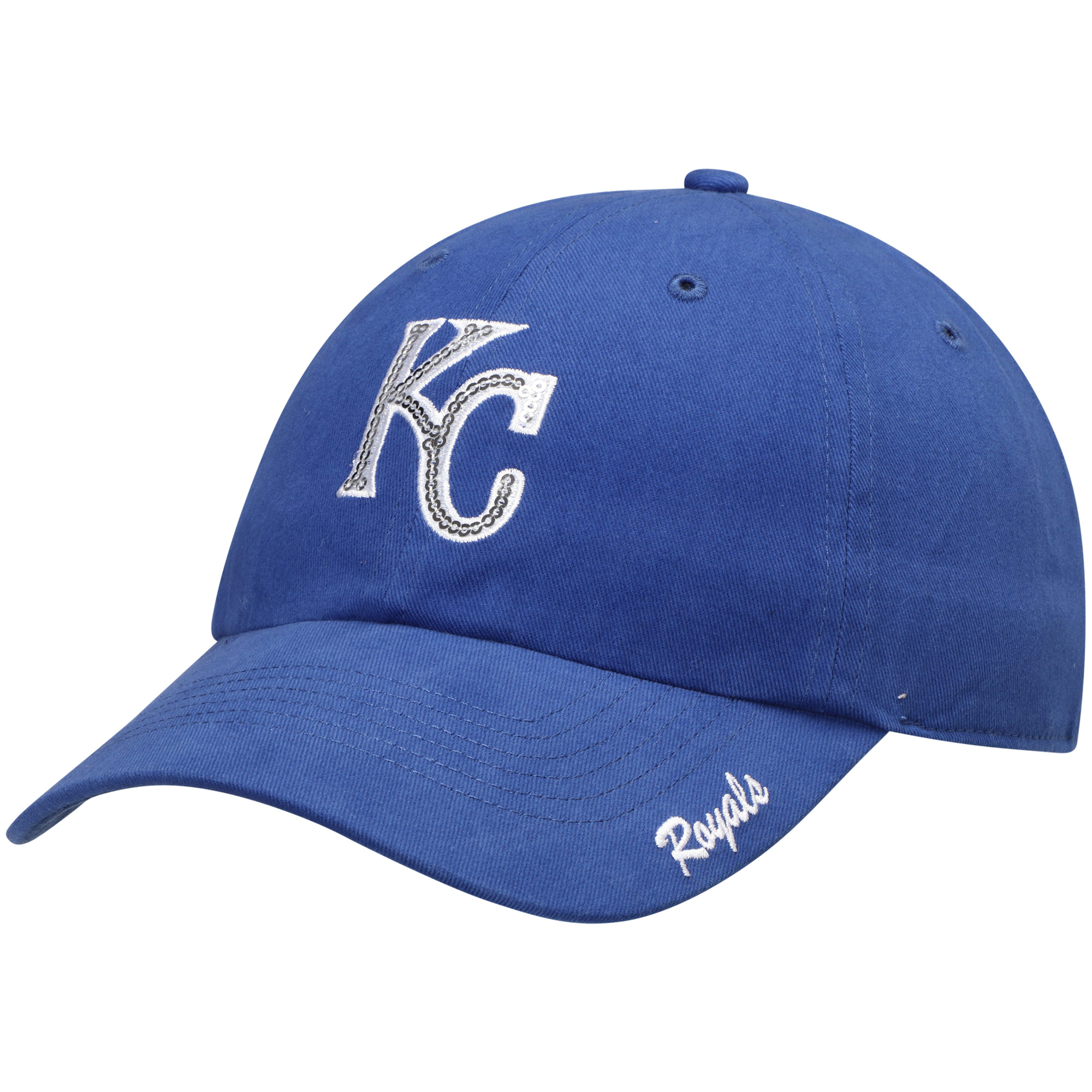 premium selection 4ba5a aa84a ... usa product image womens fan favorite royal kansas city royals sparkle  adjustable hat osfa 8dcad 0bd0b