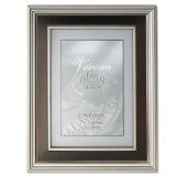 Lawrence Frames Verona Brushed Silver With Brown 5X7 Frame - 840357