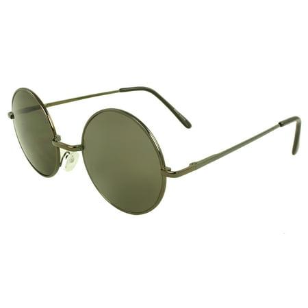 MLC Retro Round Sunglasses in Black - Sunglasses In Bulk Personalized