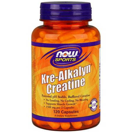 NOW Sports Kre-Alkalyn Creatine Capsules, 120 Ct