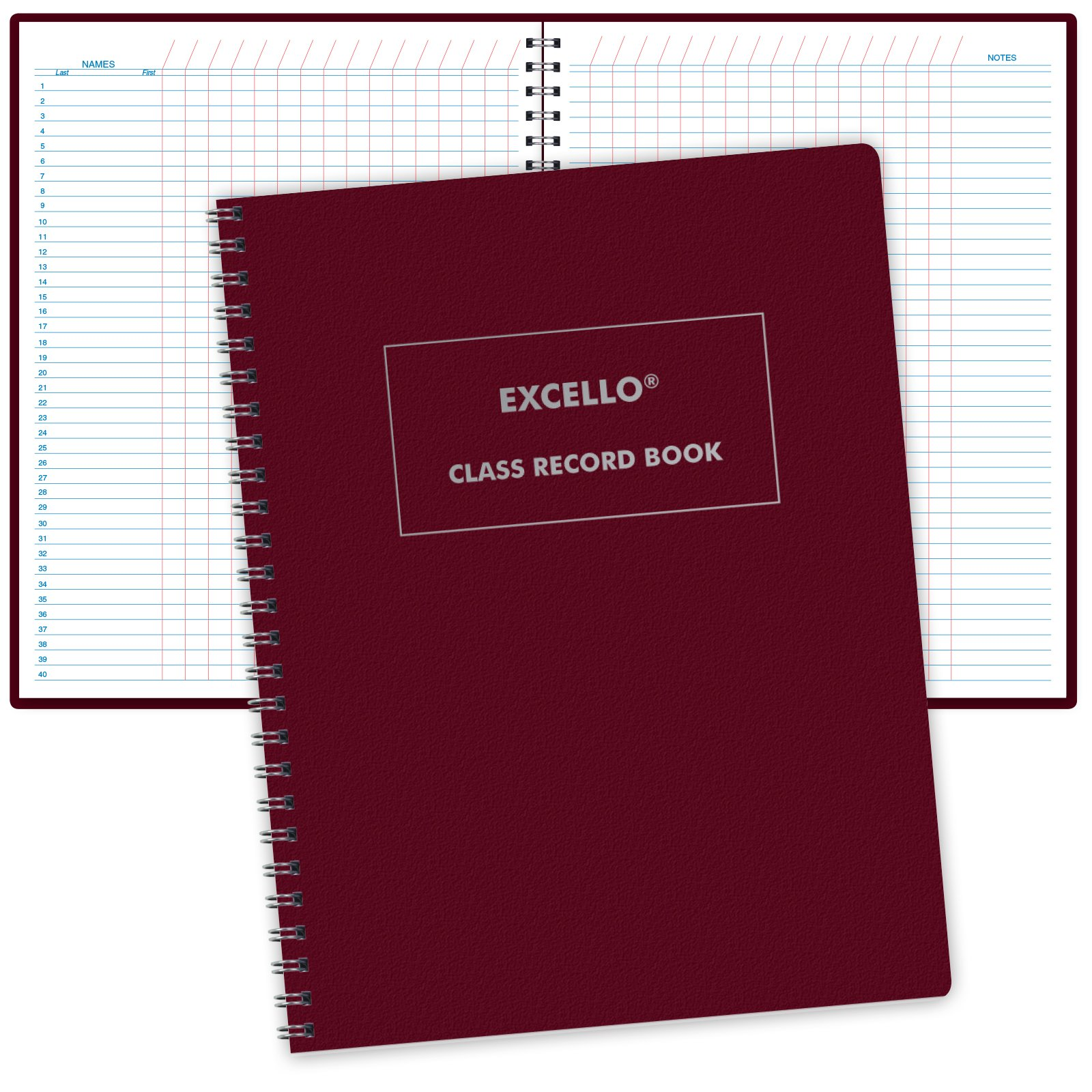 Class Record Book Unstructured...set it up to record grades your way! 40 student names (Excello) by ELAN Publishing Company