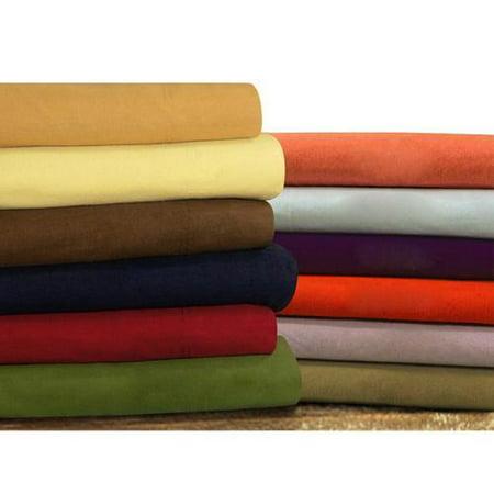 flannel extra deep pocket sheet set cal king deep red