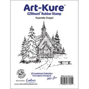 "Art-Kure Landmarks EZMount Stamp 4""X3.5""-Yosemite Chapel"