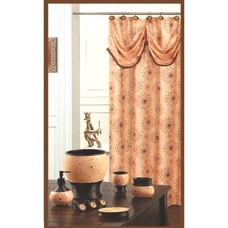 Daniels Bath Dante Decorative Single Shower Curtain