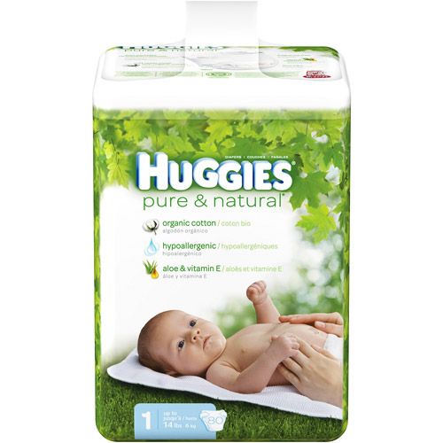 Huggies - Pure & Natural Diapers Big Pack (Choose Your Size)