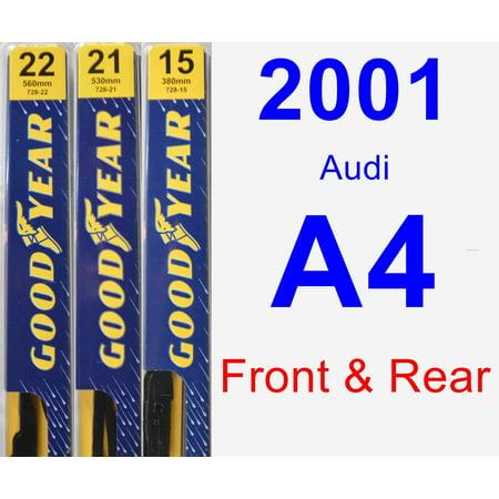 2001 Audi A4 Wiper - 2001 Audi A4 Wiper Blade Set/Kit (Front & Rear) (3 Blades) - Premium