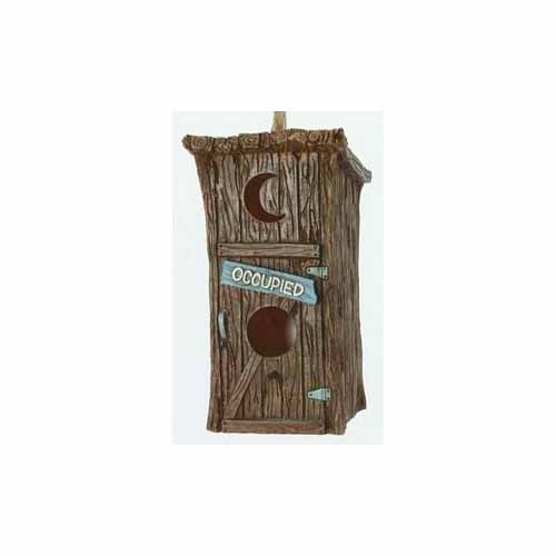 Outhouse Birdhouse by Spoontiques 10260 by Spoontiques