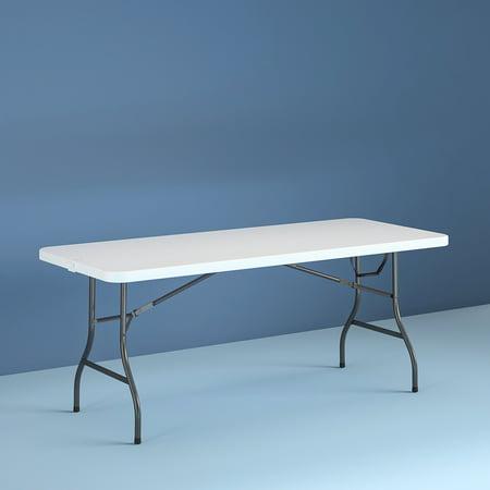 Cosco 8 Foot Centerfold Folding Table White Walmart Com