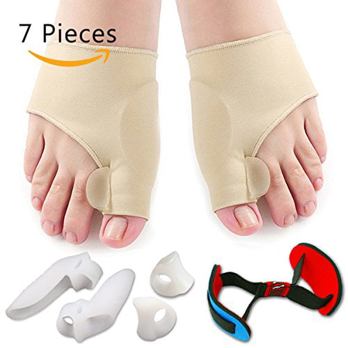 Bunion Corrector & Bunion Relief Protector Sleeves Kit Treat Pain in Hallux Valgus, Tailors Bunion, Big Toe Joint, Hammer Toe, Toe... by Flyen