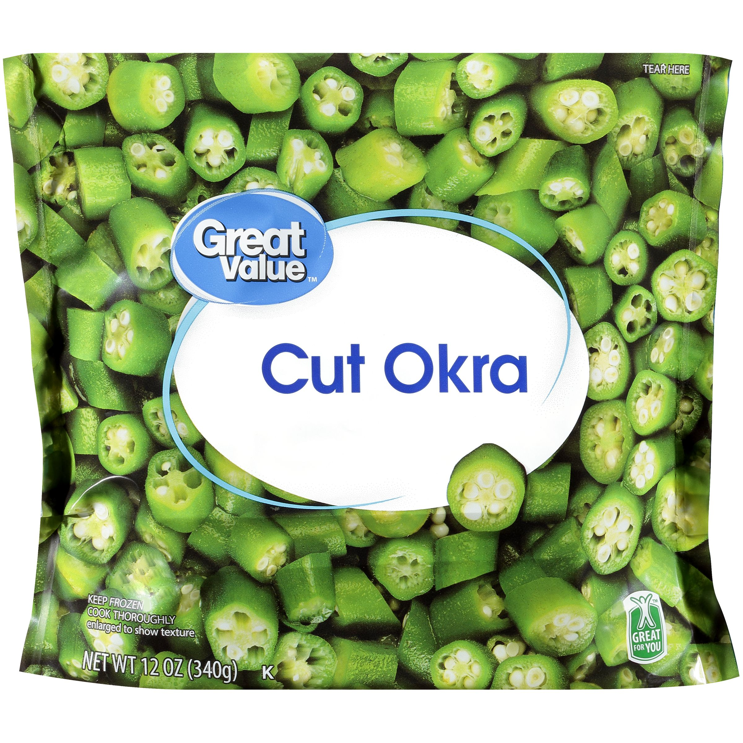 Great Value™ Cut Okra 12 oz. Bag