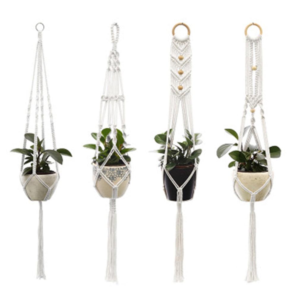 Details about  /Plastic Hook Style Flower Pot Hanging Plant Basket Holder Home//Garden//Decoration