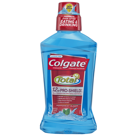Mouthwash Peppermint Baking Soda - (2 pack) Colgate Total Pro-Shield Mouthwash, Peppermint - 500mL, 16.9 fl oz