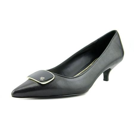 Lauren Ralph Lauren Abina Women  Pointed Toe Leather Black Heels