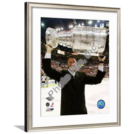 Mario Lemieux Game 7 - 2008-09 NHL Stanley Cup Fin... Framed Photographic Print Wall