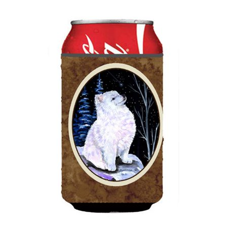 Starry Night American Eskimo Can Or bottle sleeve Hugger