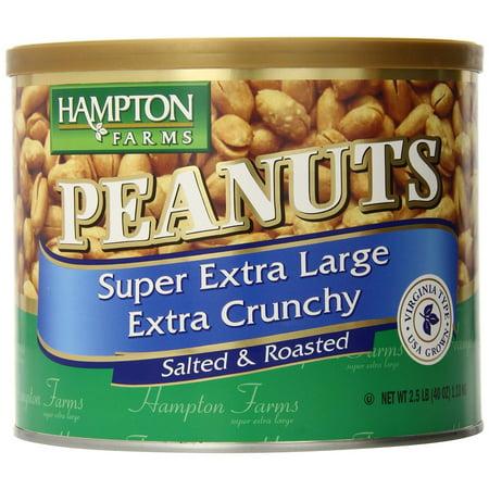 Hampton Farms Super Extra Large Peanuts, 40 Ounce ()