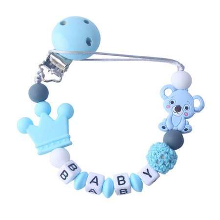 KABOER 2019 New Baby Products Silicone Pacifier Chain Koala Baby Pacifier