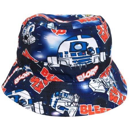 Star Wars Blorp R2D2 Movie Sublimation Youth Fisherman Crusher Bucket Cap