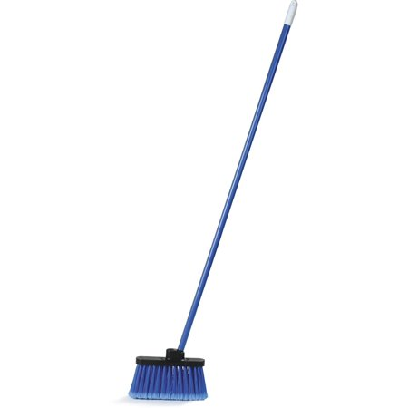 Carlisle Traditional Weight - Carlisle 3686314 Duo-Sweep Light-weight Flagged Industrial Lobby Broom With Metal Threaded Handle, Blue 1 pack